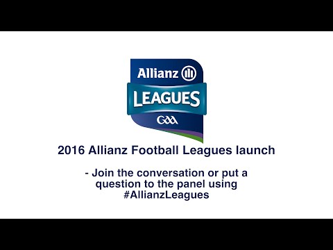 2016 Allianz Football Leagues Launch