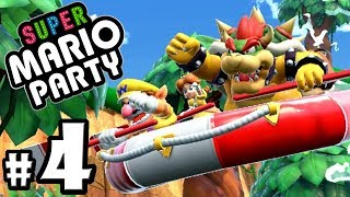 Super Mario Party - 2 Player Nintendo Switch Gameplay Walkthrough PART 4: River Survival Co-Op Raft