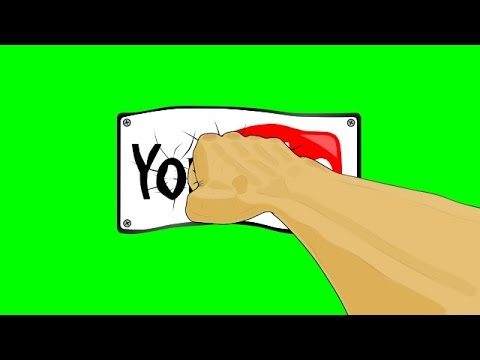 Animated Fist Punching You Tube Logo ~ Green Screen