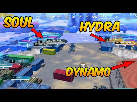 Soul vs Hydra, dynamo and mortal in final circle amazing figh pubg mobile streamers battle