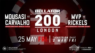 Bellator 200 Promo and picks livestream chat, come here for Fight Companion!
