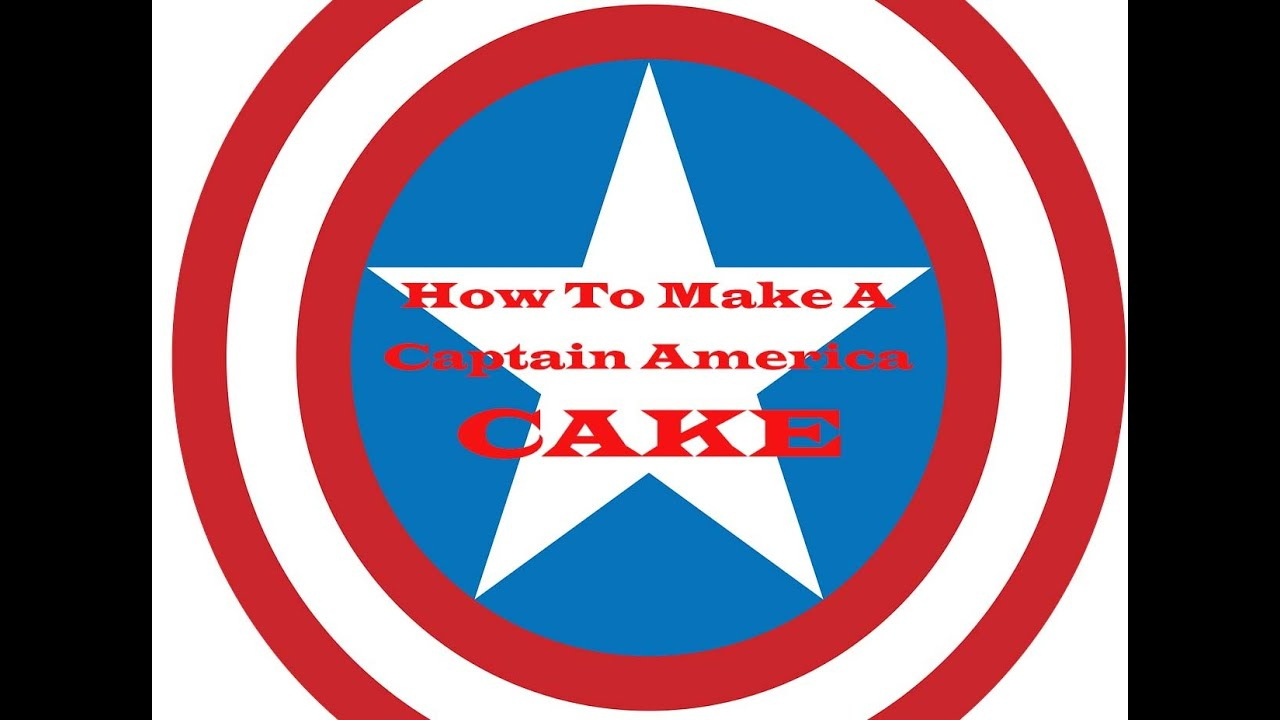 How to make a Captain America Cake YouTube