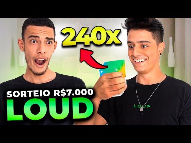 GASTAMOS R$7.000 EM GIFT CARDS E VAMOS DOAR TUDO!! LOUD FREE FIRE