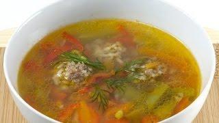 Суп с фрикадельками Детский кулинарный мастер класс Cooking soup