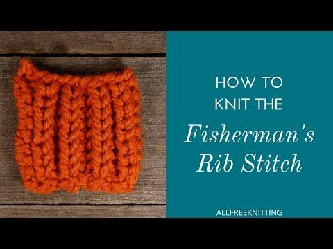 English Rib / Fishermans Rib Knitting Stitch Variation... Doovi