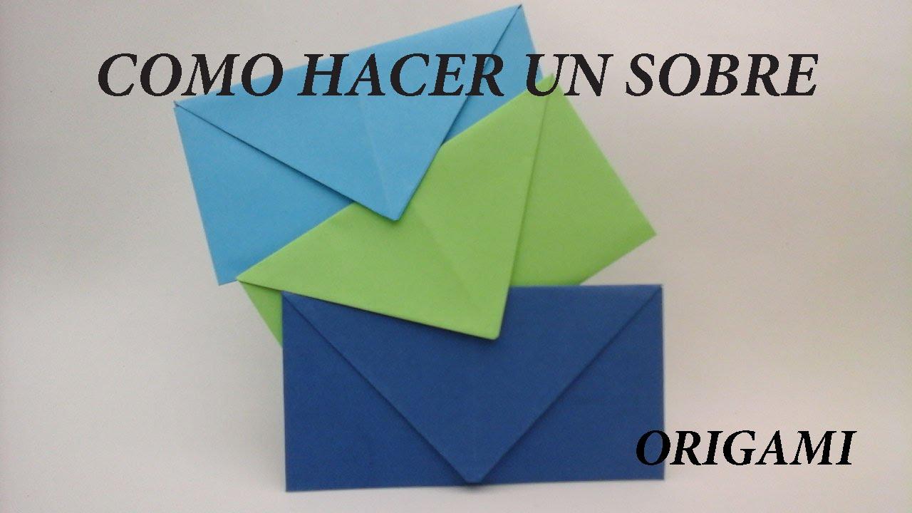 first look best deals on stable quality Como hacer SOBRES para cartas sin pegamento (origami)