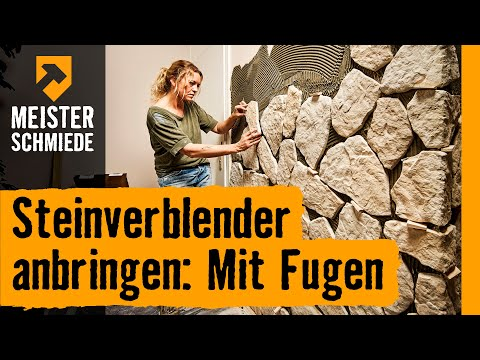 steinverblender anbringen mit fugen hornbach. Black Bedroom Furniture Sets. Home Design Ideas