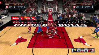 NBA 2K16 | Paul George misses wide open shot with perfect release |