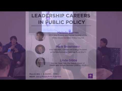 Leadership Careers in Public Policy