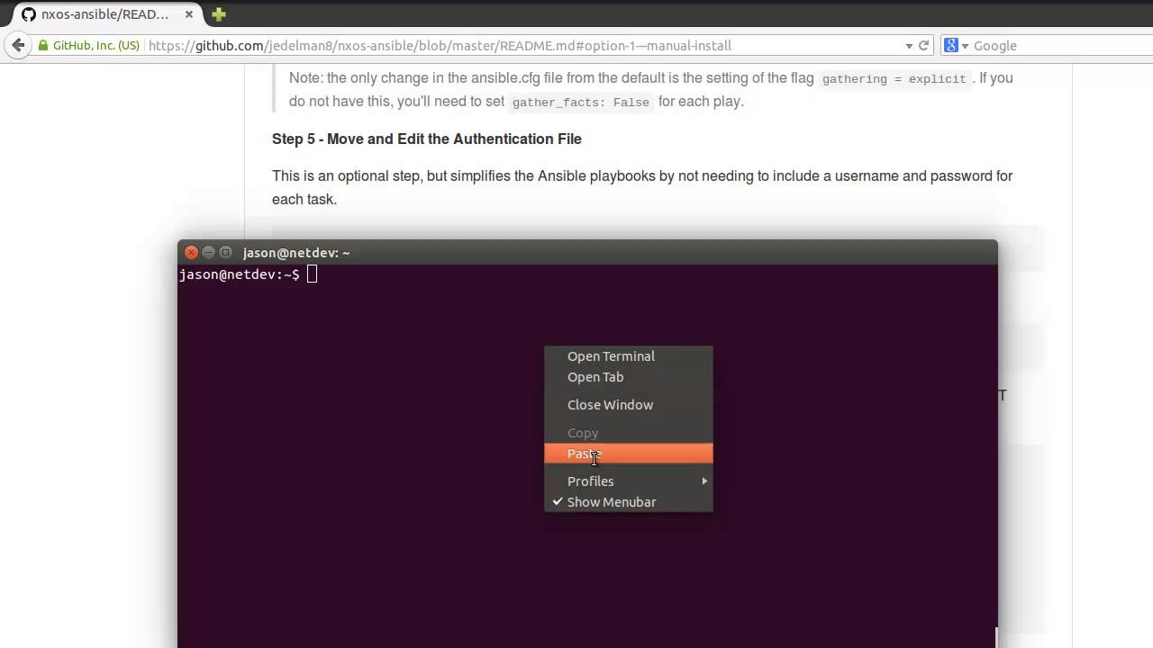 Getting Started with Nexus NX-OS Automation with Ansible - Option 1 (manual  install)
