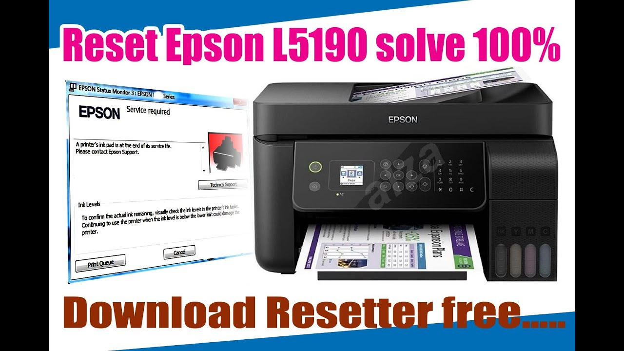 How To Reset Epson L5190 With Adjustment Program Youtube