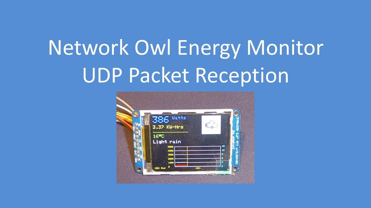 Tech Note 001 - ESP8266 Network Owl Multicast (UDP) Data Reception and  Display on a TFT