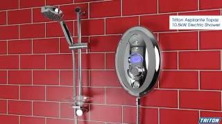 Triton Aspirante Topaz 10.5kW Electric Shower - Plumbworld