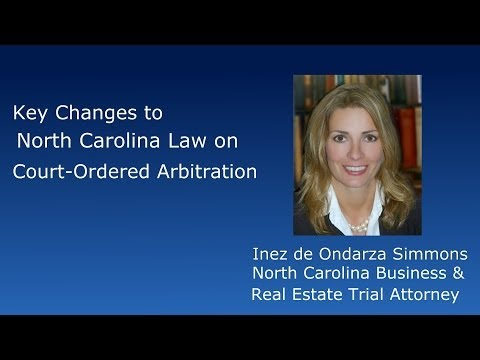 Key Changes to NC Non-Binding Arbitration Law