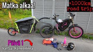 1000km road trip sähköpyörällä alkaa!    Päivä 1    Vantaa - Hämeenlinna [+110km]