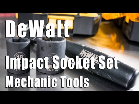 DeWalt Impact Socket Set Video Review DWMT74739