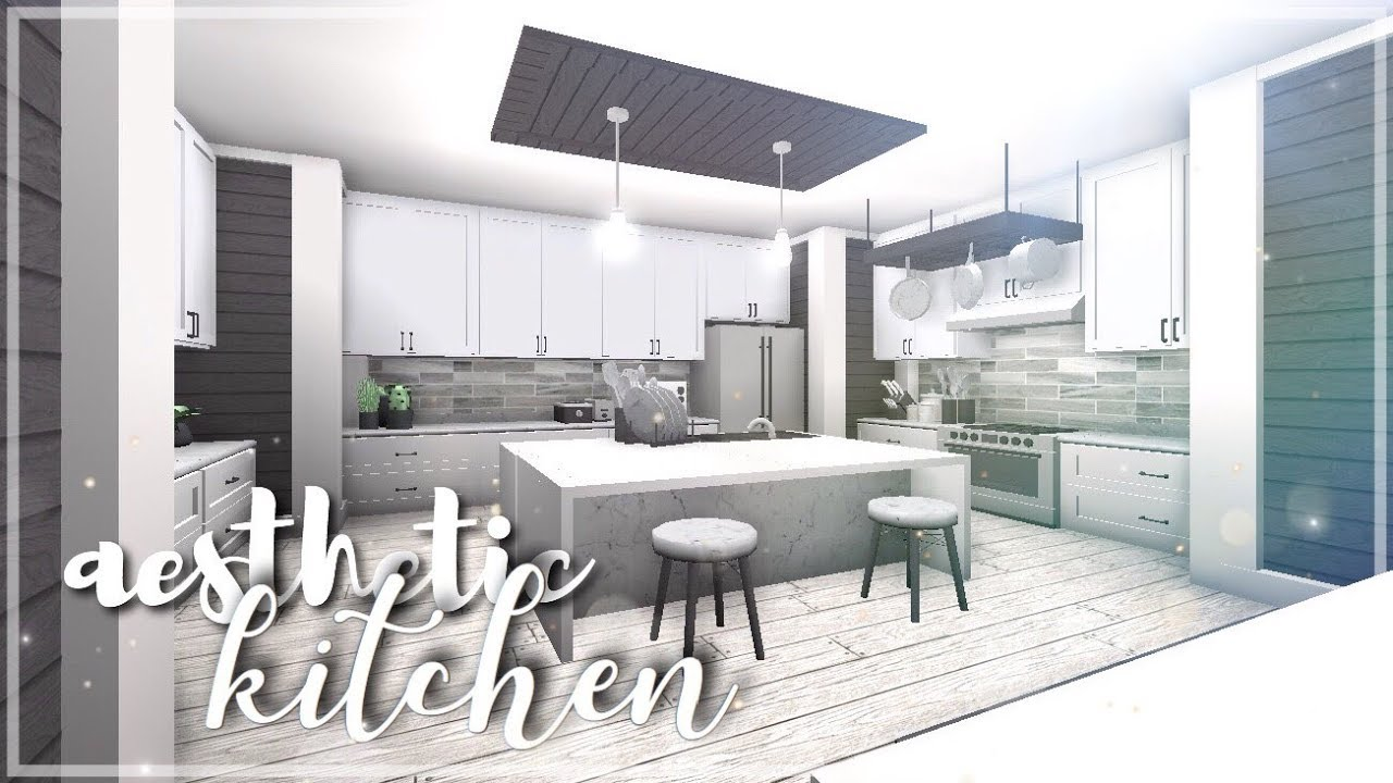 ROBLOX | Bloxburg: Aesthetic Kitchen - YouTube