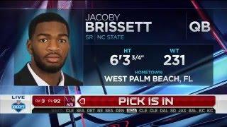 2016 NFL Draft Rd 3 Pk 91 | New Englnd Patriots Select QB Jacoby Brissett