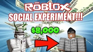 Giving $8,000 to Strangers in Rocitizens! - (Roblox Social Experiment) [CRAZY REACTIONS]