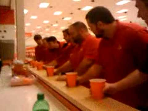 T-1356 chuggin apple cider at huddle, not sure why