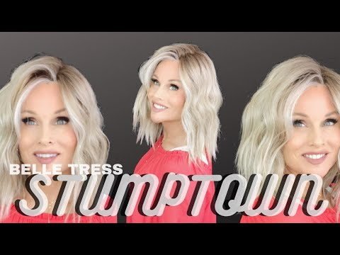 Belle Tress STUMPTOWN Wig Review | Butterbeer Blonde | CELEBRITIES LOVING THE LOOK! | SEE In WIND!!