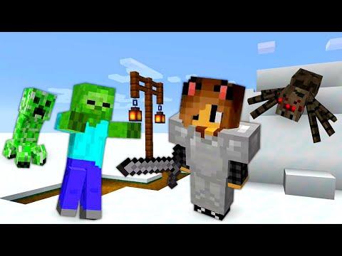 Обзор игры - Выживание Майнкрафт в снежной пустыне со Светой ч.4 – Minecraft видео летсплей.