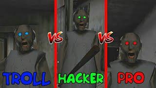 HACKER vs TROLLER vs PRO in GRANNY