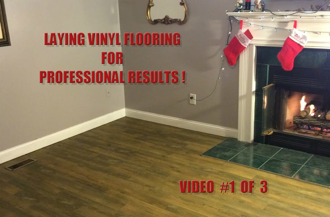 installing vinyl peel 'n stick plank flooring - video #1 of 3
