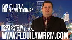 Can you get a DUI in a wheelchair?