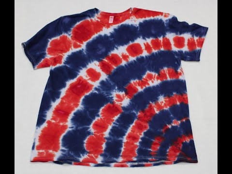 How To Tie Dye A Red, White, And Blue Corner Star Flower Tie Dye Shirt