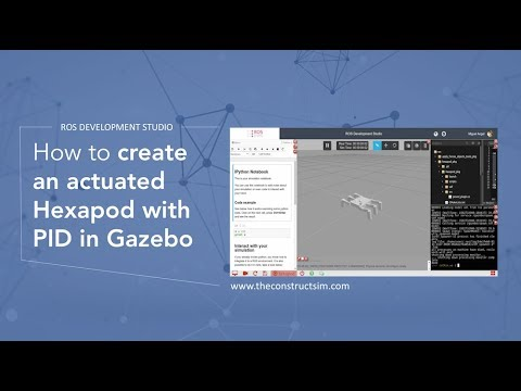 [ROS Q&A] How to create an actuated Hexapod with PID in Gazebo