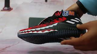 best loved 86467 32d06 BAPE X Adidas Dame 4 Red HD Show ...