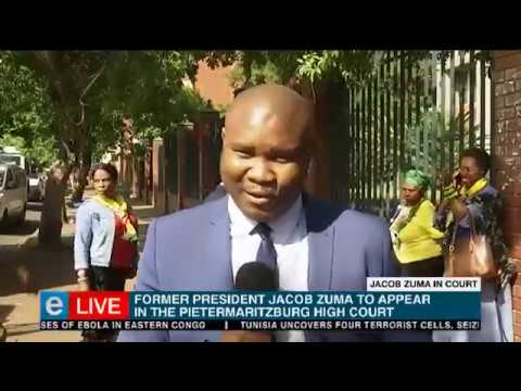 Former president Jacob Zuma is back in the High Court today