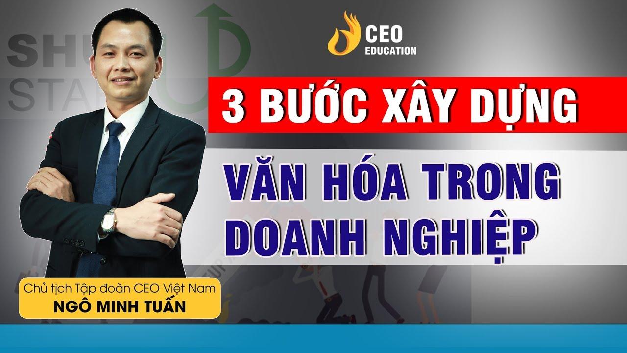 3 Bước Bắt Đầu Xây Dựng Văn Hóa Doanh Nghiệp | Ngô Minh Tuấn | Học Viện CEO Việt Nam