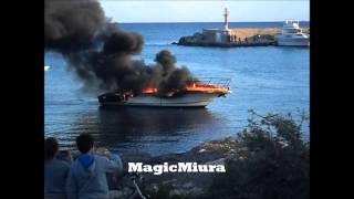 Yacht fire Mallorca