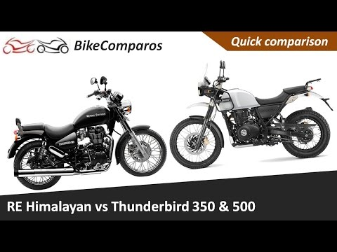 RE Himalayan vs Thunderbird 350  Thunderbird 500 Comparison Review