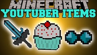 Minecraft: YOUTUBER ITEMS (THEDIAMONDMINECART, CAPTAINSPARKLEZ, YOGSCAST) Mod Showcase