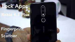 Nokia 6.1 Plus: How To Lock Apps Using Fingerprint Scanner [Hindi]