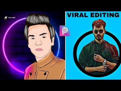 PicsArt New Vector Art Cartoon Photo Editing | Picsart Portrait Cartoon 3d Editing