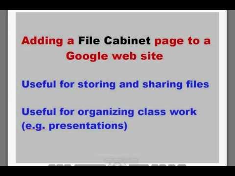 Google Sites Part 2: file cabinet page [HD 720x480 MPEG4].mkv