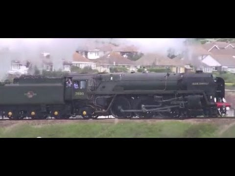 Oliver Cromwell hauling the Seaford 150 special 7th June 2014