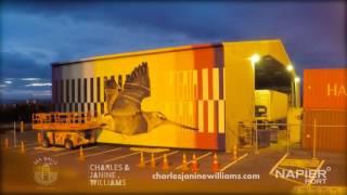 Sea Walls: Murals for Oceans at Napier Port