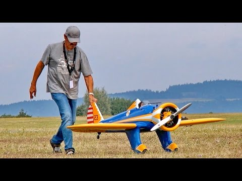RC BOEING P-26 PEASHOOTER SCALE MODEL AIRPLANE DEMO FLIGHT / United-RC-Flights Bayreuth 2016