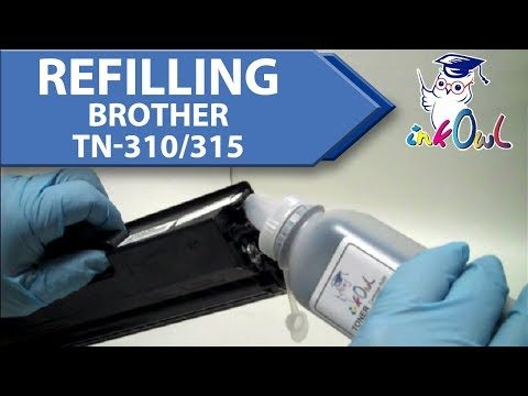brother hl 2030 toner refill instructions