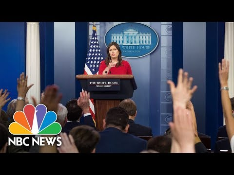 Watch Live: White House Press Briefing - May 11, 2018