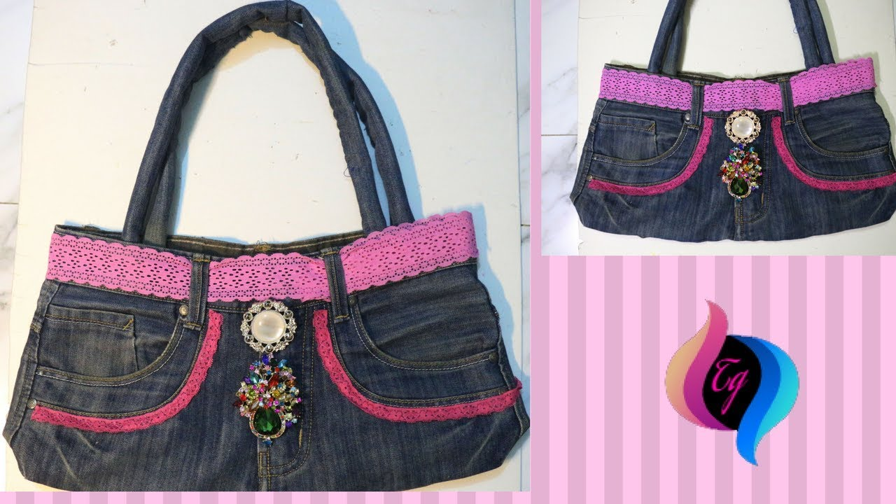 How To Make Handbag From Old Jeans Bags Handmade Recycle