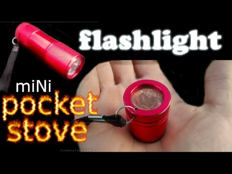 MOST FUEL EFFICIENT ALCOHOL STOVE🍵Ultralight Mini Micro Alcohol POCKET SIZE/KEYCHAIN STOVE