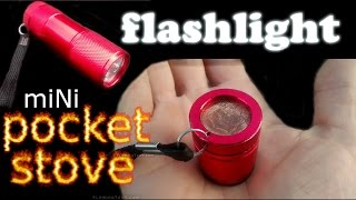The MOST FUEL EFFICIENT ALCOHOL STOVE-Ultra Light Compact Mini Micro Alcohol Pocket/Keychain Stove