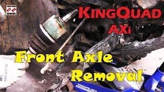 SUZUKI KINGQUAD AXi 450 500 700 750 - HOW TO REMOVE-CHANGE FRONT AXLE