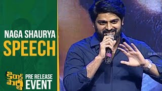 Hero Naga Shaurya Speech @ Kirrak Party Pre Rel...